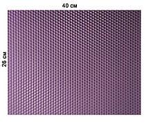 Кольорова вощина 100% віск 26х41см Бузковий