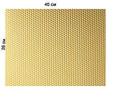 Кольорова вощина 100% віск 26х41см Білий