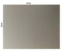 Кольорова вощина 100% віск 26х41см Сірий