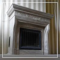 Облицовка камина бежевым итальянским мрамором: цена, фото., фото 1