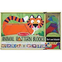 Розвивающая игрушка Melissa&Doug Деревянная мозаика Животные (MD4382)
