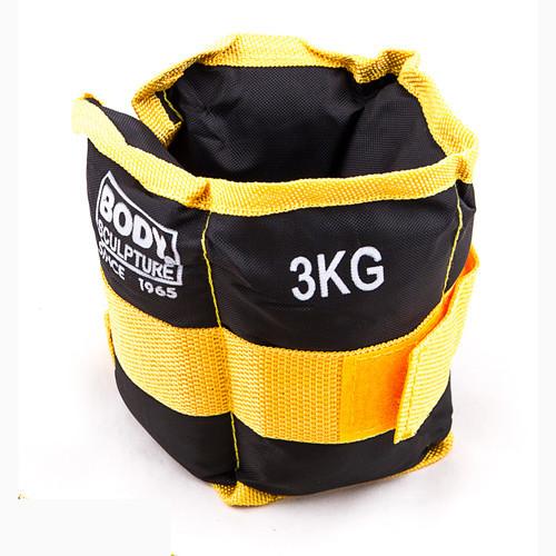 Обважнювачі BODY SCULPTURE чорно-жовтий 2шт по 1.5 кг