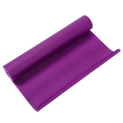 Коврик для йоги и фитнеса сиреневый TPE+TC, 1слой, Iron Master 173x61x0.6см