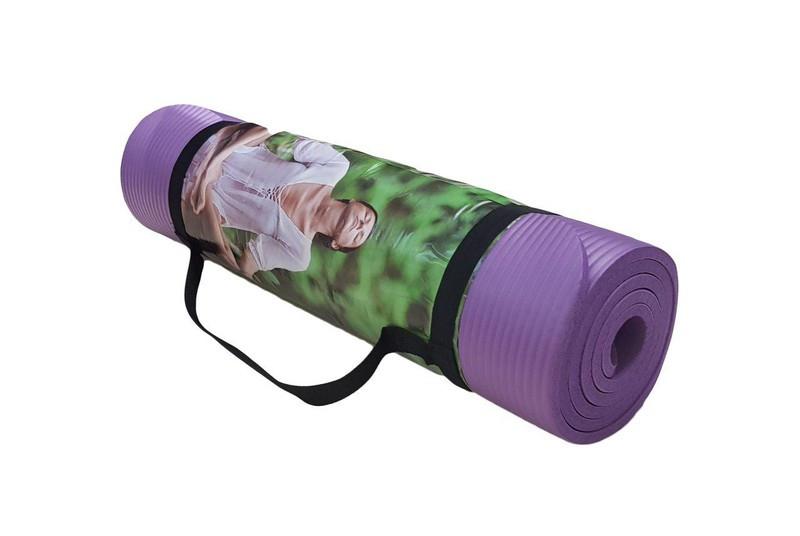 Килимок World Sport для йоги та фітнесу фіолетовий NBR, 1800х600х10мм
