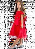 Нарядное красное платье  с коротким рукавом для девочек, фото 3