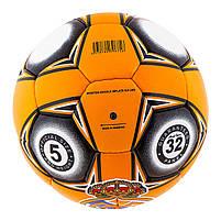 М'яч футбольний Ronex Grippy G-14 RM, оранж/чорний, фото 2