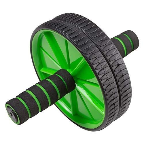 Ролик преса World Sport D175mm 2 колеса, чорно-зелений