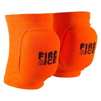 Наколенник волейбольный Fire&Ice усиленный FR-075, оранжевый, р. S