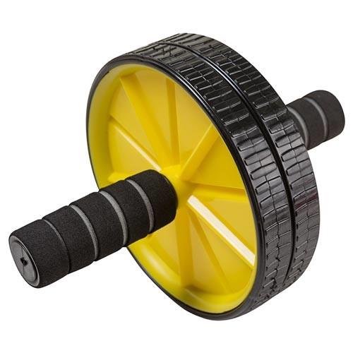 Ролик пресса World Sport D175mm 2 колеса, черно-желтый