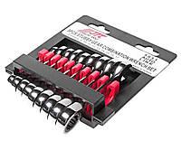 Набор рожково-накидных ключей с трещоткой коротких JTC 5051  8-17мм 9 шт