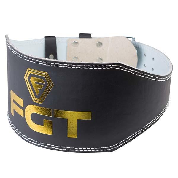 Пояс атлетический FGT широкий черный, PU, размер M