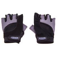 Перчатки атлетические черно-серые Ronex RX-05, размер L, фото 2