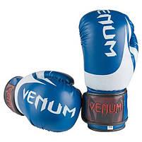 Боксерские перчатки синие 8oz Venum, DX 2145, фото 3