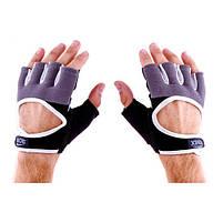 Перчатки атлетические черно-серые Ronex RX-01, размер L, фото 2