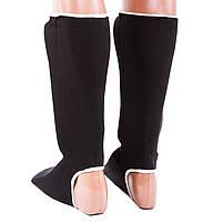 Защита ноги черная Velo, х/б, эластан, размер M, фото 2