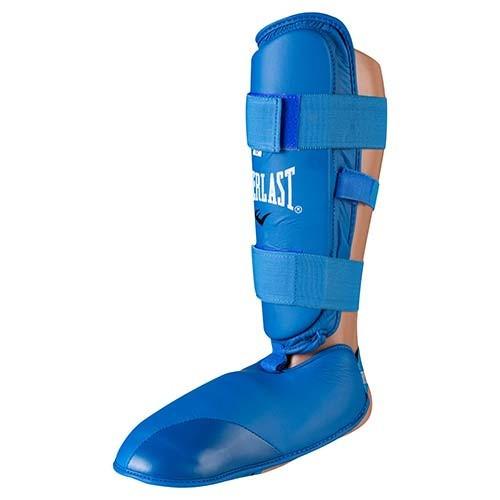 Защита для ног разбирающаяся (голень+стопа ) PU Everlast , синяя, размер S