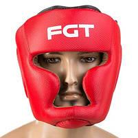 Боксерский шлем FGT закрытый Flex M красный (F475CR/M3), фото 3