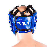 Шолом для боксу синій з пластикової маскою Venum, розмір L, фото 2
