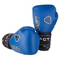 Боксерские перчатки FGT синие 12oz, Cristal 2815, фото 2