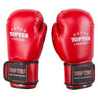 Боксерські рукавички червоні 12oz Top Ten DX-3148, фото 4