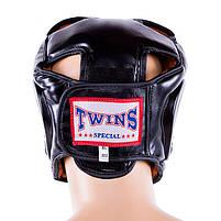 Боксерский шлем закрытый Twins S черный (TW475-BLS), фото 2
