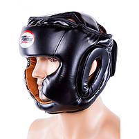 Боксерский шлем закрытый Twins S черный (TW475-BLS), фото 4