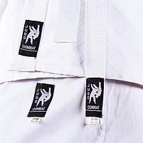Кімоно дзюдо Combat Sports біле, 16oz ріст 140см, фото 4