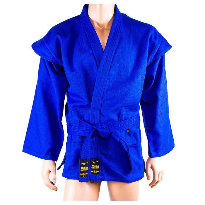 Самбовка синяя Mizuno, куртка+шорты 550г, рост 150см
