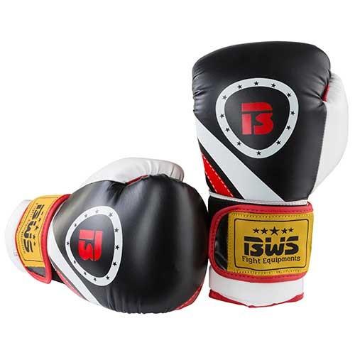 Боксерські рукавички BWS чорно-білі 8oz Давайте sFight, FLEX, 3077