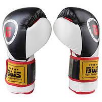 Боксерські рукавички BWS чорно-білі 8oz Давайте sFight, FLEX, 3077, фото 3