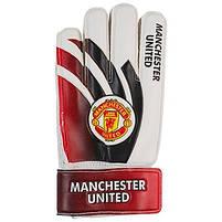 Вратарские перчатки World Sport Latex Foam MANCHSTER, красно-белые, р.5, фото 2