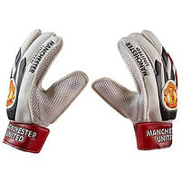 Вратарские перчатки World Sport Latex Foam MANCHSTER, красно-белые, р.5, фото 3