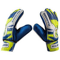 Вратарские перчатки World Sport  Latex Foam REALMADRID, сине-зеленые, р.6, фото 3