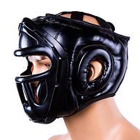 Шолом для боксу чорний з пластикової маскою Everlast, розмір M, фото 2