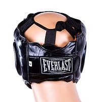 Шолом для боксу чорний з пластикової маскою Everlast, розмір M, фото 3