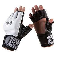Перчатки для единоборств Everlast, MMA, кожа, размер M, фото 2