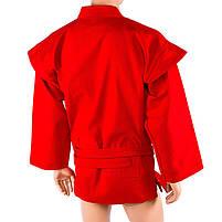 Самбовка червона Mizuno, куртка+шорти 550г, ріст 140см, фото 4