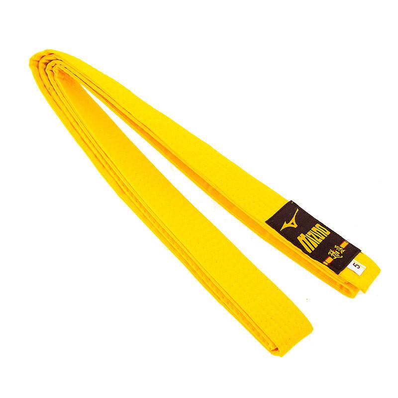 Пояс для кімоно жовтий Mizuno 270 см