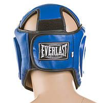 Боксерский шлем закрытый Everlast Flex L синий (EVF475-L2), фото 3