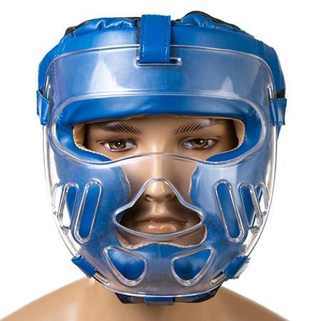Боксерский шлем закрытый Everlast L синий (EV-5009L2)