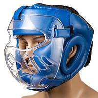 Боксерский шлем закрытый Everlast L синий (EV-5009L2), фото 3