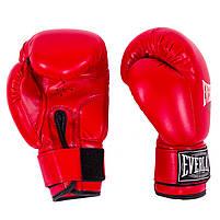 Боксерские перчатки красные 6oz Everlast DX-380, фото 3