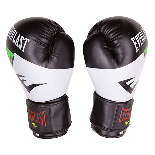 Боксерські рукавички Everlast DX-10 чорно-білі 10oz