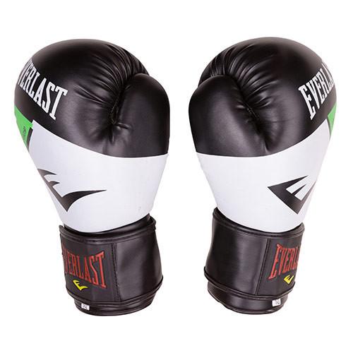 Боксерские перчатки Everlast DX-10 черно-белые 10oz