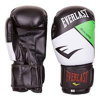 Боксерские перчатки Everlast DX-10 черно-белые 10oz, фото 3