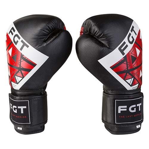 Боксерські рукавички FGT чорно-червоні 10oz, Cristal 2518