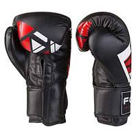 Боксерські рукавички FGT чорно-червоні 10oz, Cristal 2518, фото 3