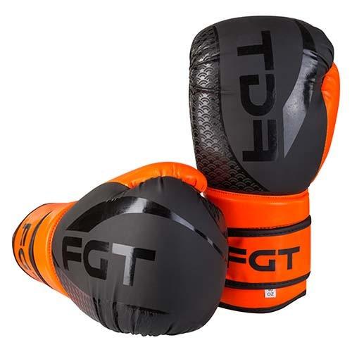 Боксерські рукавички FGT чорно-помаранчеві 12oz, Flex 2588
