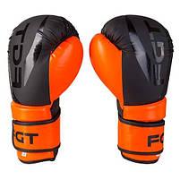 Боксерські рукавички FGT чорно-помаранчеві 12oz, Flex 2588, фото 2