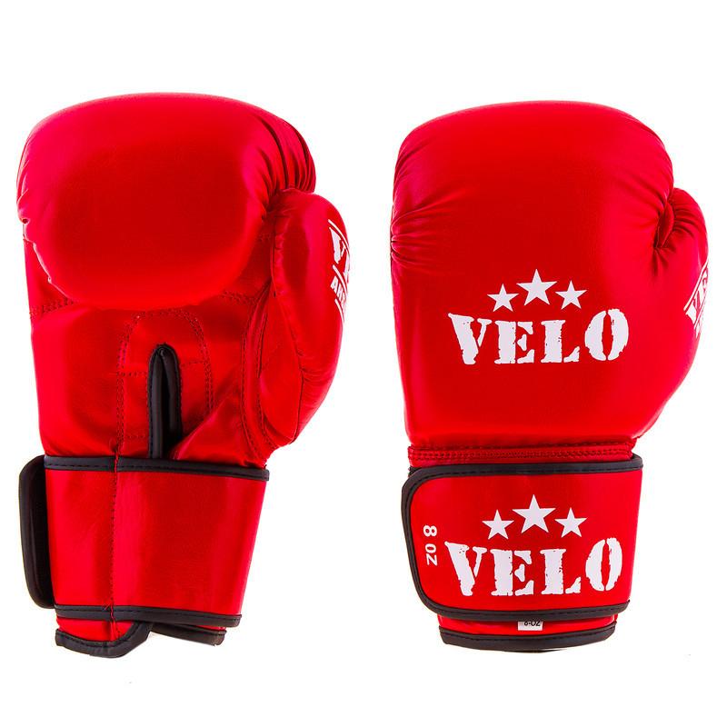 Боксерские перчатки красные 8oz Velo Ahsan Star, Flex